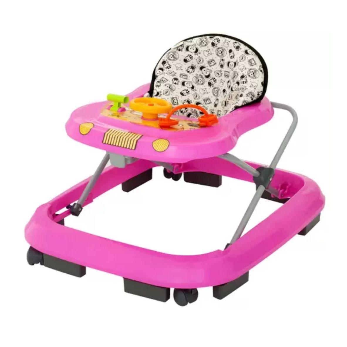 Andador Safari Rosa Musical - Tutty Baby