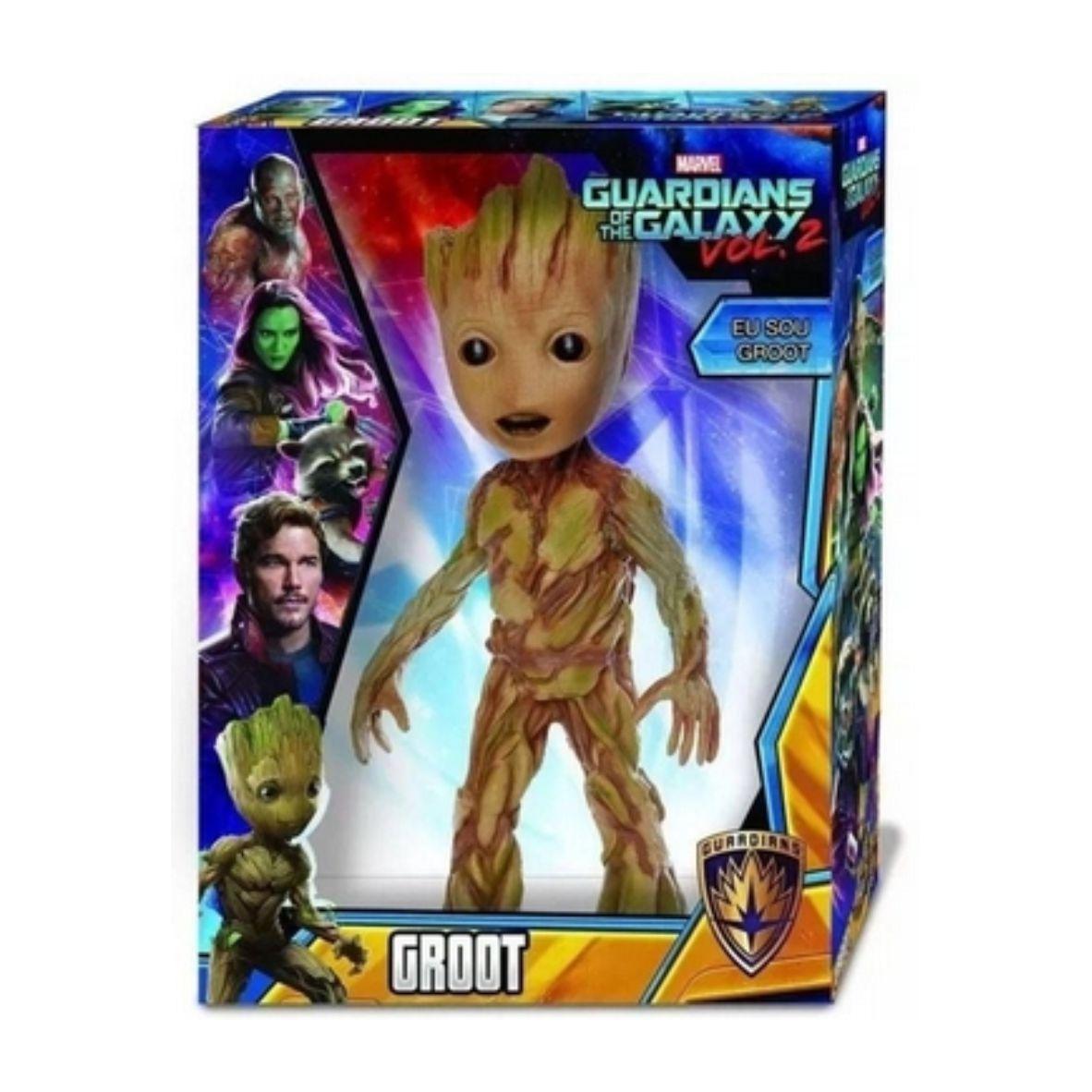 Boneco Groot Marvel Revolution 50 cm - Guardian Of Hhe Galaxy Vol. 2 - Mimo Toys