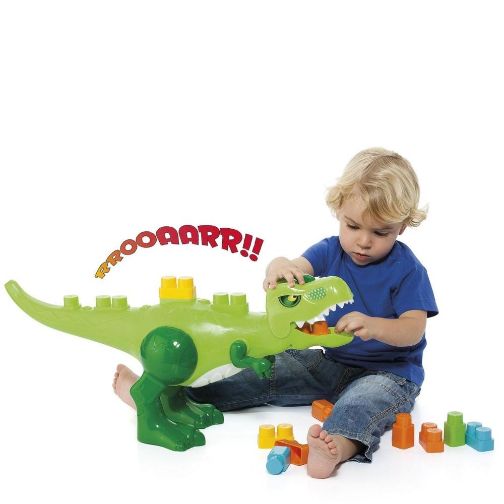 Baby Land Dino Jurássico com 30 Blocos de Montar - Cardoso Toys