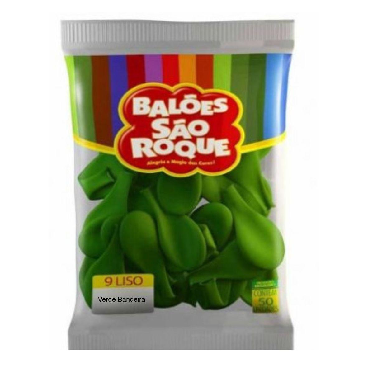 """Balão São Roque Número  9"""" Cores Lisas - Escolha sua cor."""