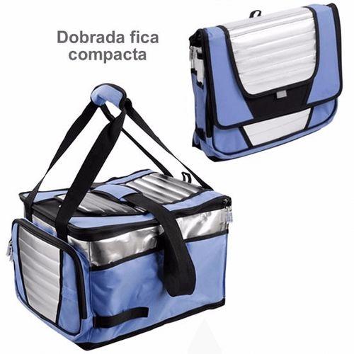 Bolsa Térmica Ice Cooler 36 L Azul com Prata - MOR