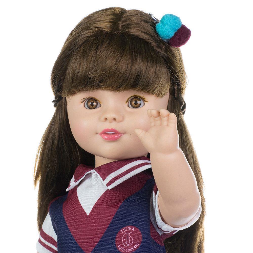 Boneca As Aventuras de Poliana 50 cm com Som - Baby Brink