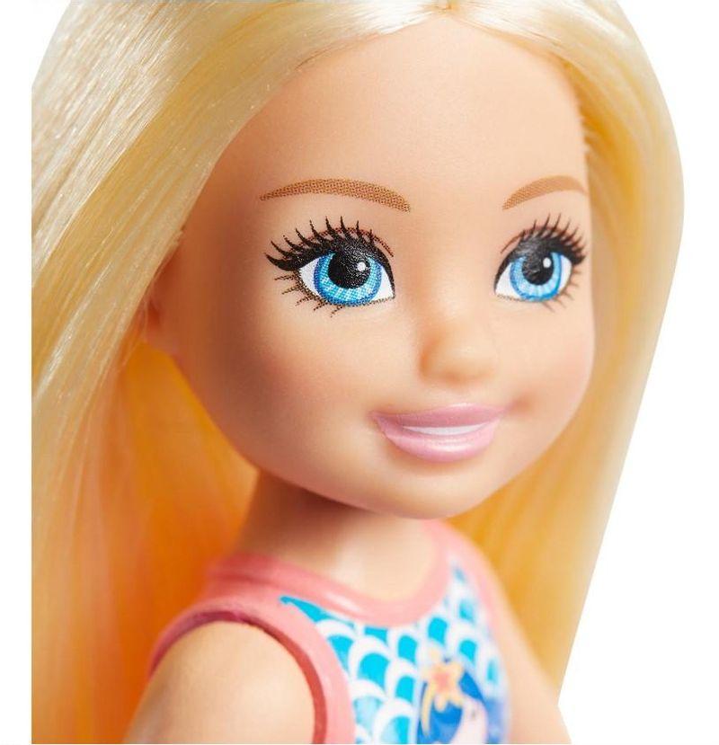 Boneca Barbie Club Chelsea Maiô Sereia - Mattel
