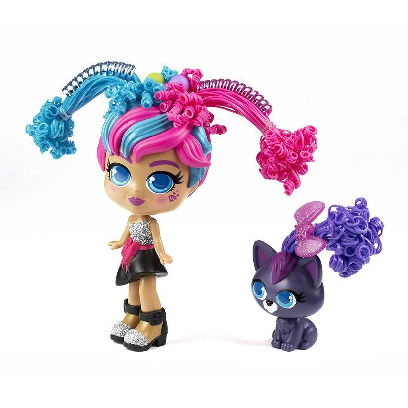 Boneca Curli Girls e Mascote Milli e Vogue - Rosita Brinquedos