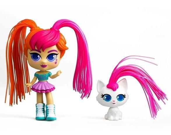 Boneca Curli Girls e Mascote Mei Li e Lulu - Brinquedos Rosita