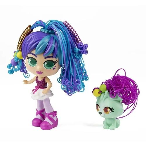 Boneca Curli Girls e Mascote Rosli e Koda - Rosita Brinquedos