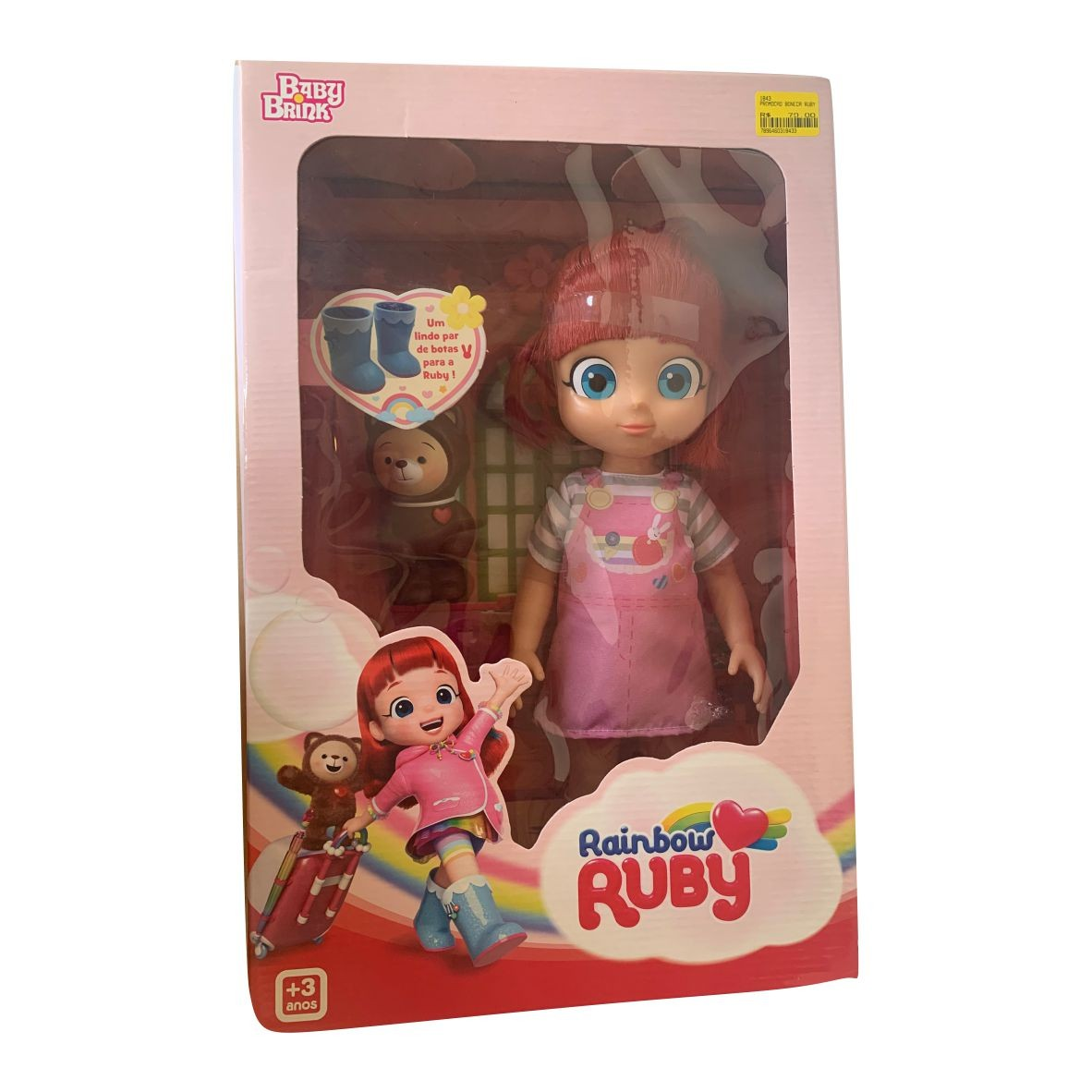 Boneca Rainbow Ruby e Choco