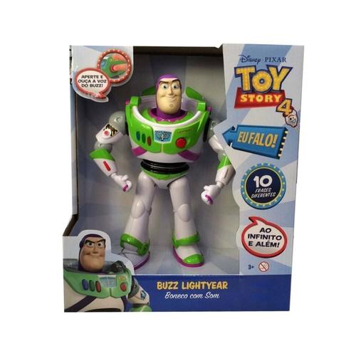 Boneco Buzz Lightyear com Som Toy Story 4 Disney Pixar - Toyng