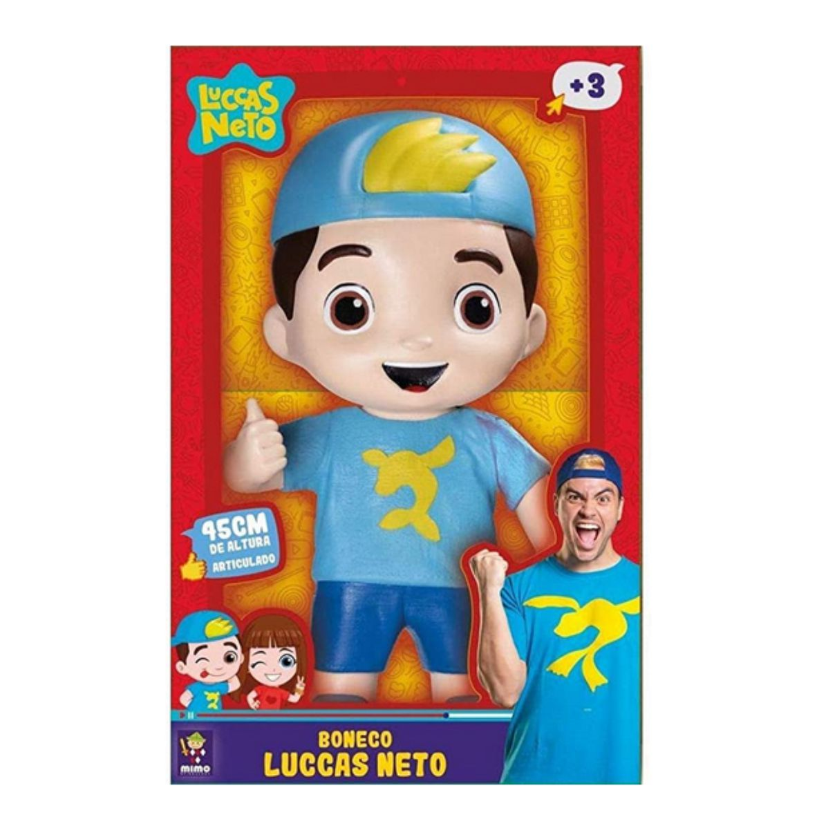 Boneco Luccas Neto 45 cm Articulado