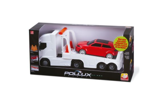 Caminhão Resgate Pollux Máquina com Fricção e Pneus de Borracha - Silmar