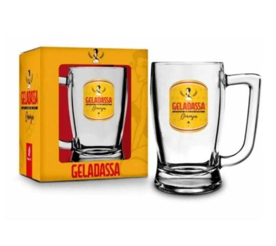 Caneca de Vidro 340 ml Geladassa Assim que Se Bebe