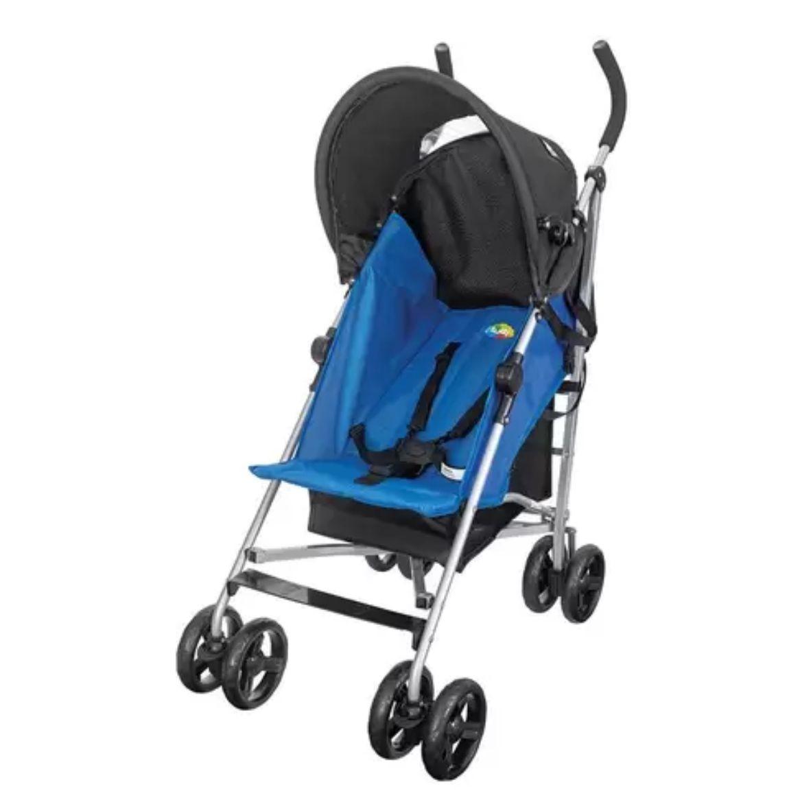 Carrinho de Bebê Passeio Easy Azul