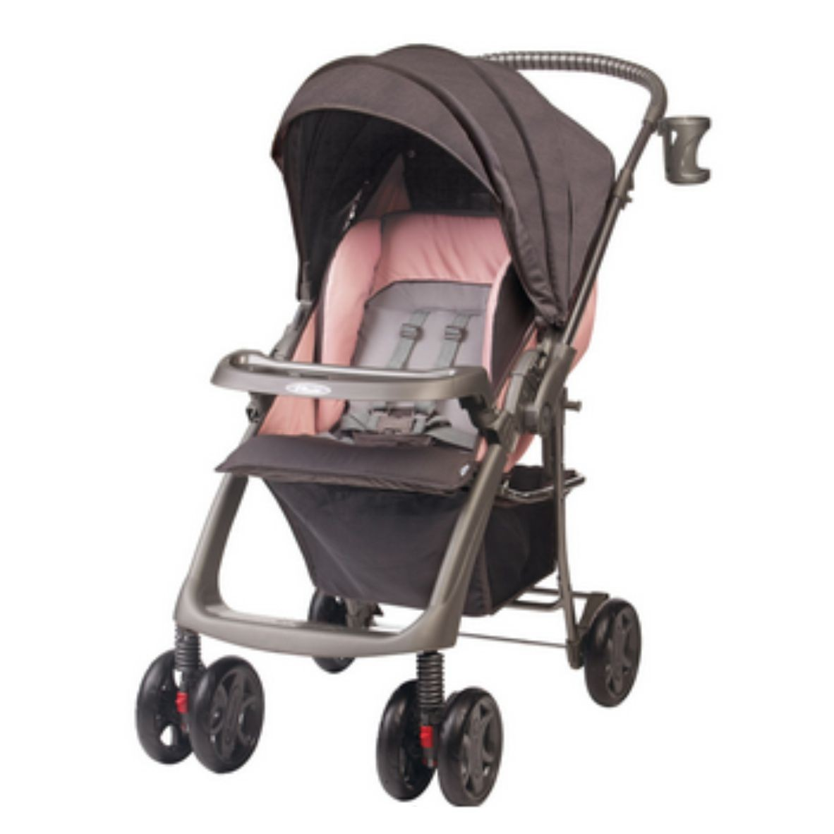 Carrinho de Bebê Premium Rubi Rosa Mate - Hércules