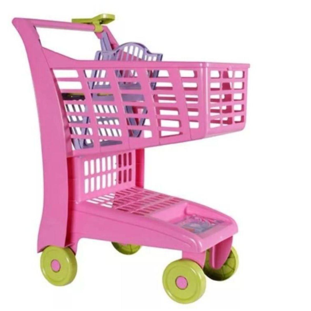 Carrinho de Supermercado Rosa