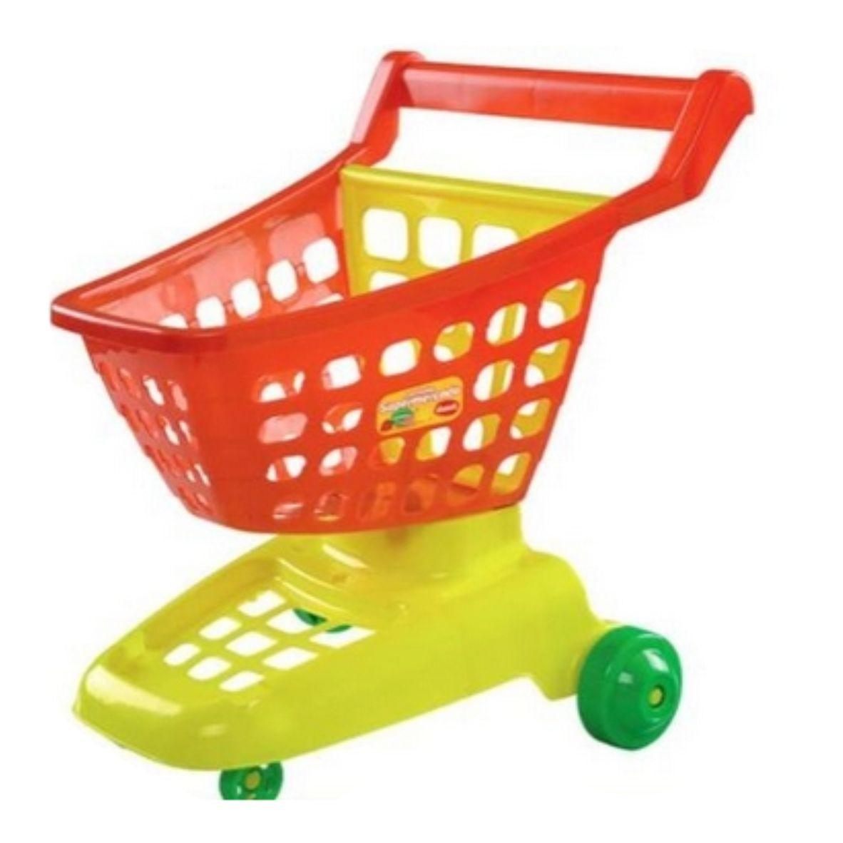 Carrinho de Supermercado Vermelho/Amarelo