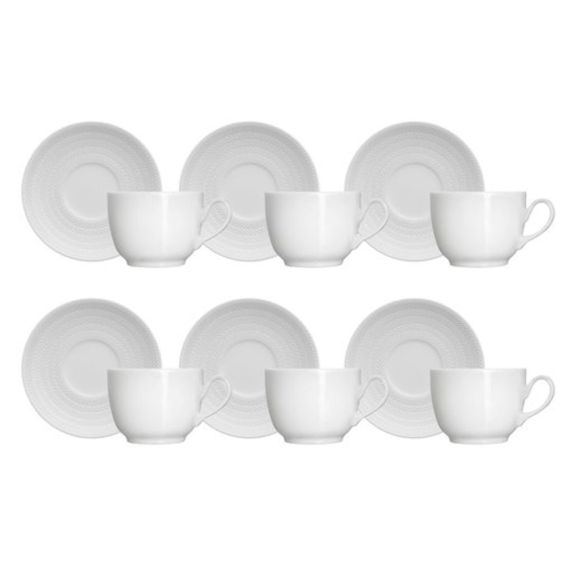 Conjunto de Chá 12 Peças Branco 200 ml - Biona