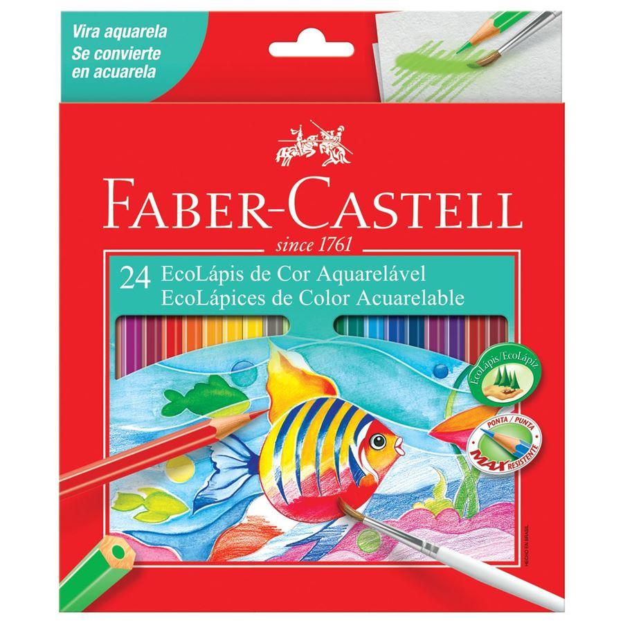Conjunto Faber Castell 24 Ecolapis Coloridos