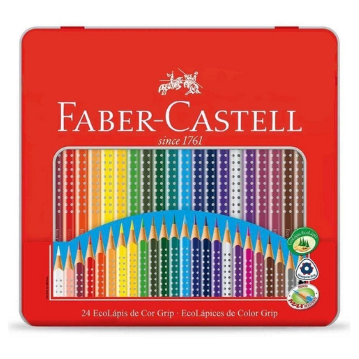 Conjunto 24 EcoLápis de Cor Grip Since 1971 - Faber-Castell