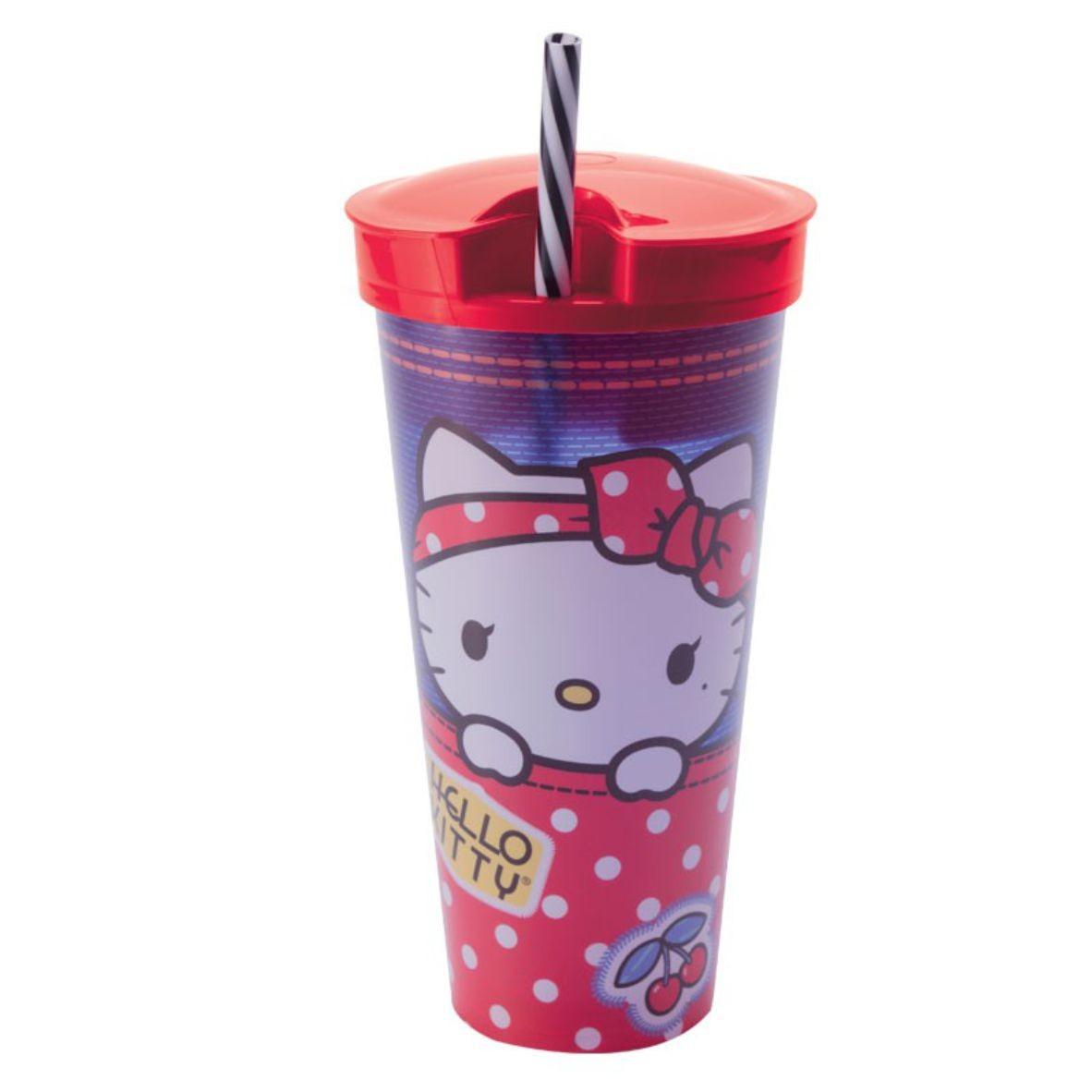 Copo 2 em 1 Hello Kitty 540 ml - Plasútil