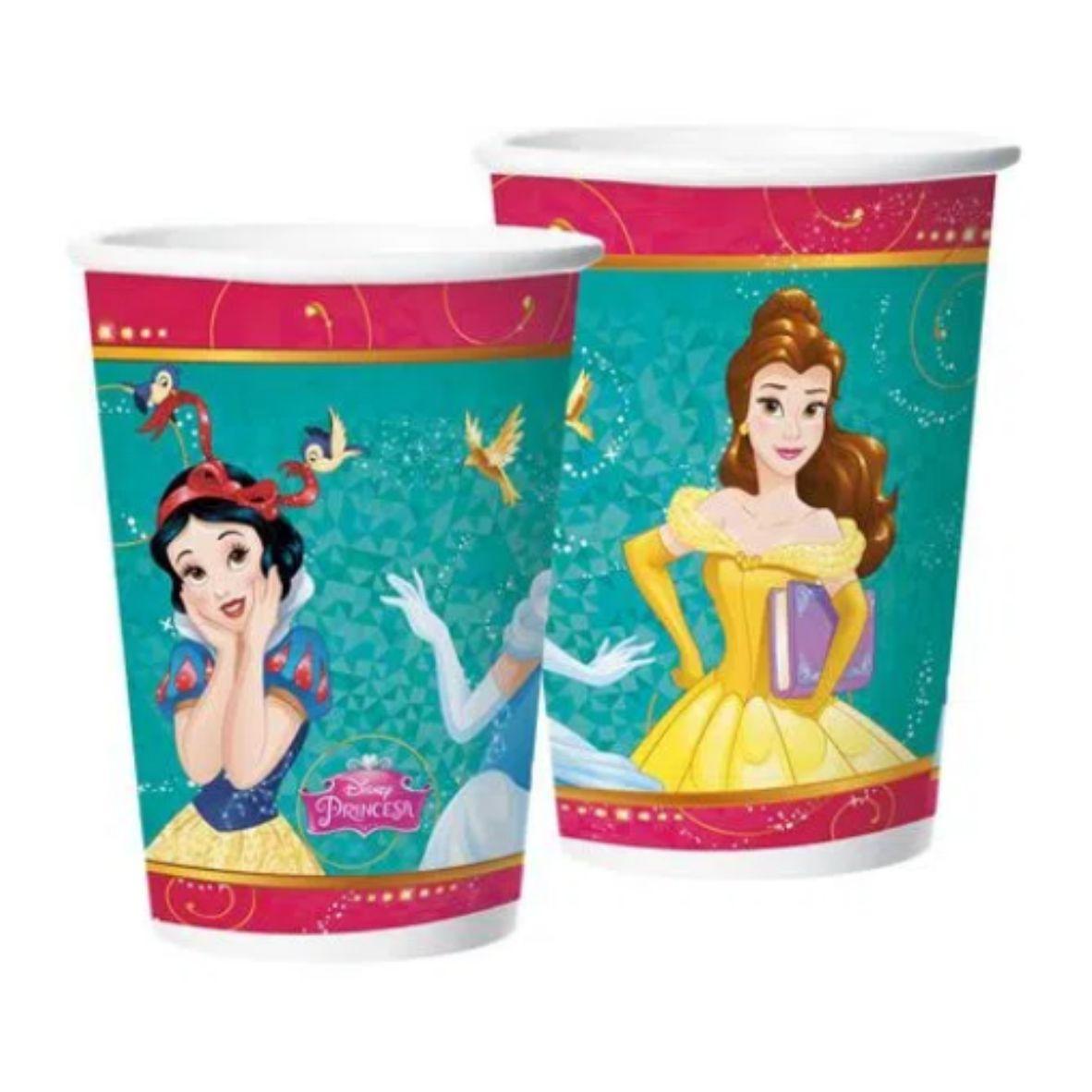 Copo de Papel Princesas da Disney 180 ml com 8 unidades
