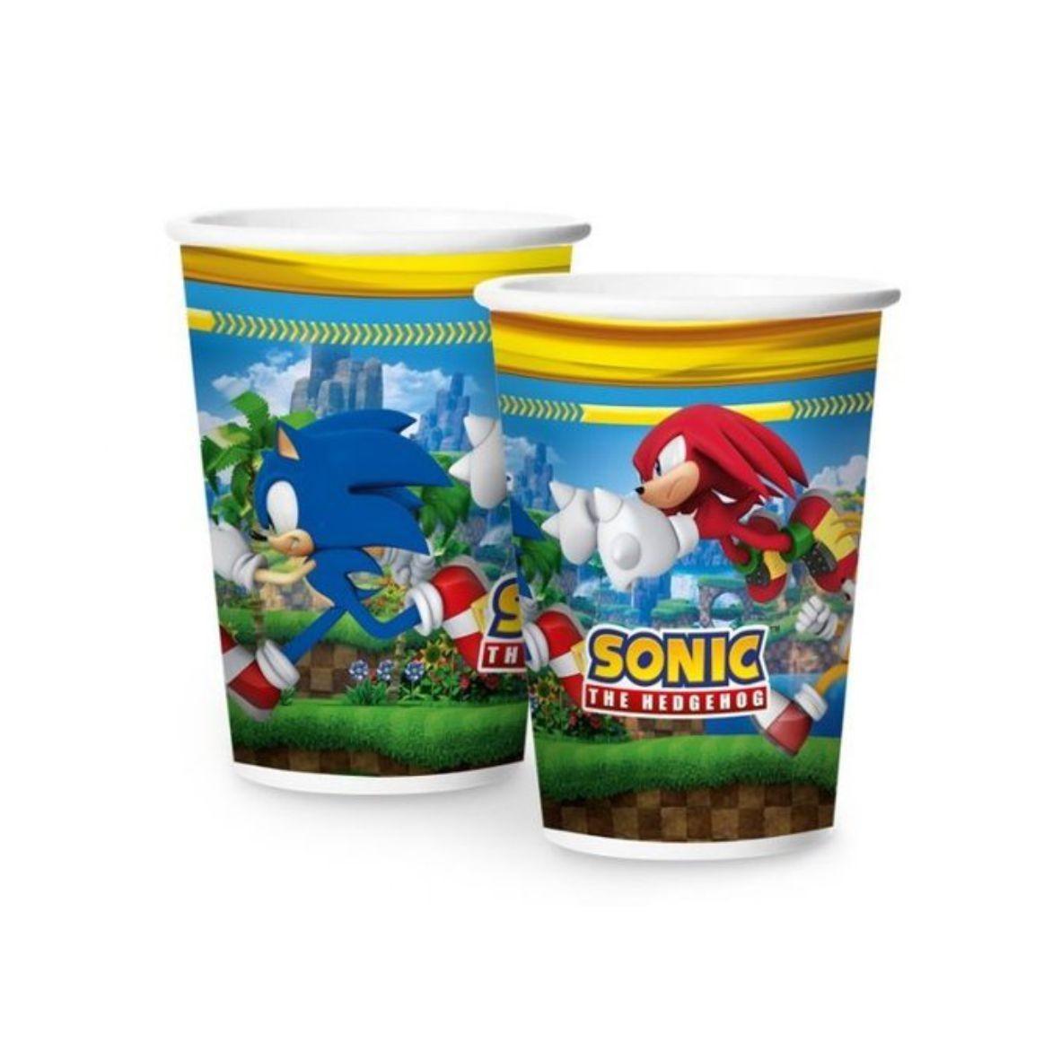 Copo de Papel Sonic 180 ml - Pct Promocional Leve 12 Pague 10