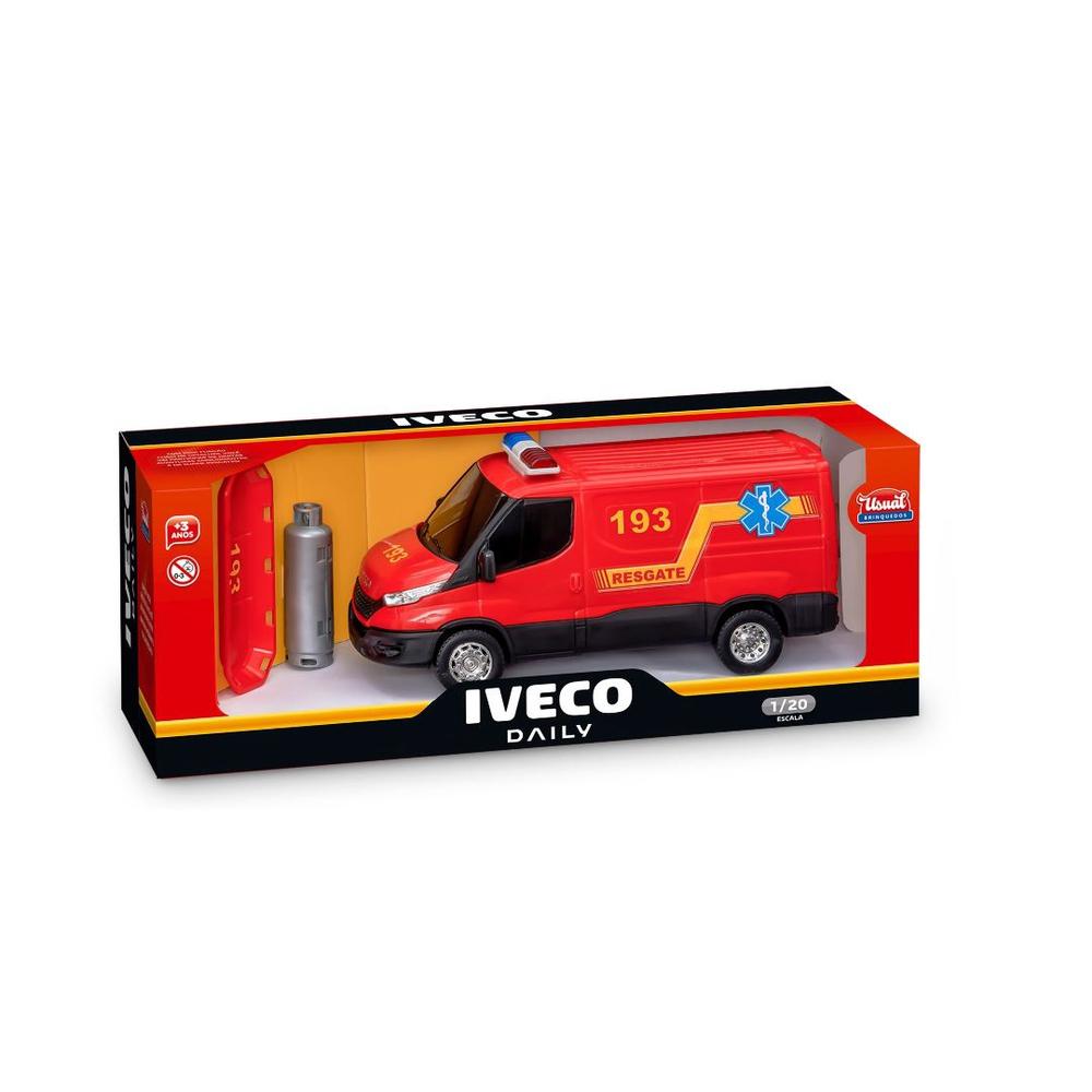 Furgão de Resgate Iveco Daily - Usual Brinquedos
