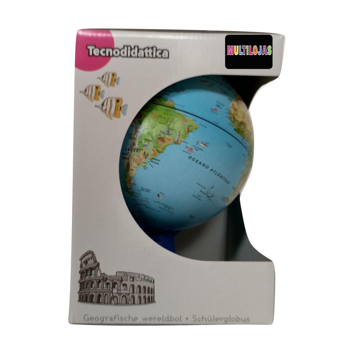 Globo Geográfico - Mini Safári - 16cm - Tecnodidattica