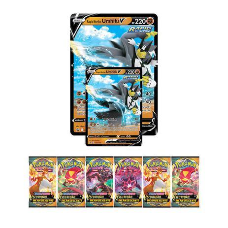Jogo de Cartas Pokémon Estampas Ilustradas - Urshifu Golpe Fluido V