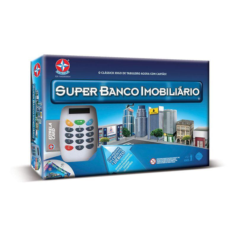 Jogo Super Banco Imobiliário acima de 12 anos - Estrela