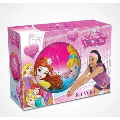 Kit Bola de Vôlei com Rede Princesas Disney - Líder Brinquedos