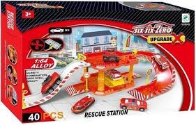 Kit de Estacionamento com Carro de Metal -  Cute Toys