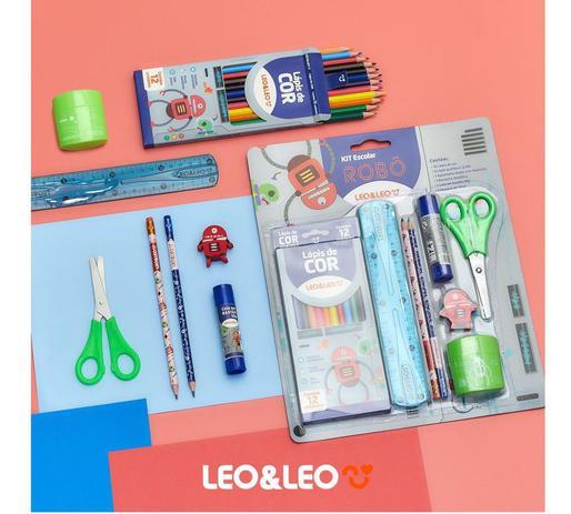 Kit Escolar Robô Leo&Leo com 8 Peças - Leonora