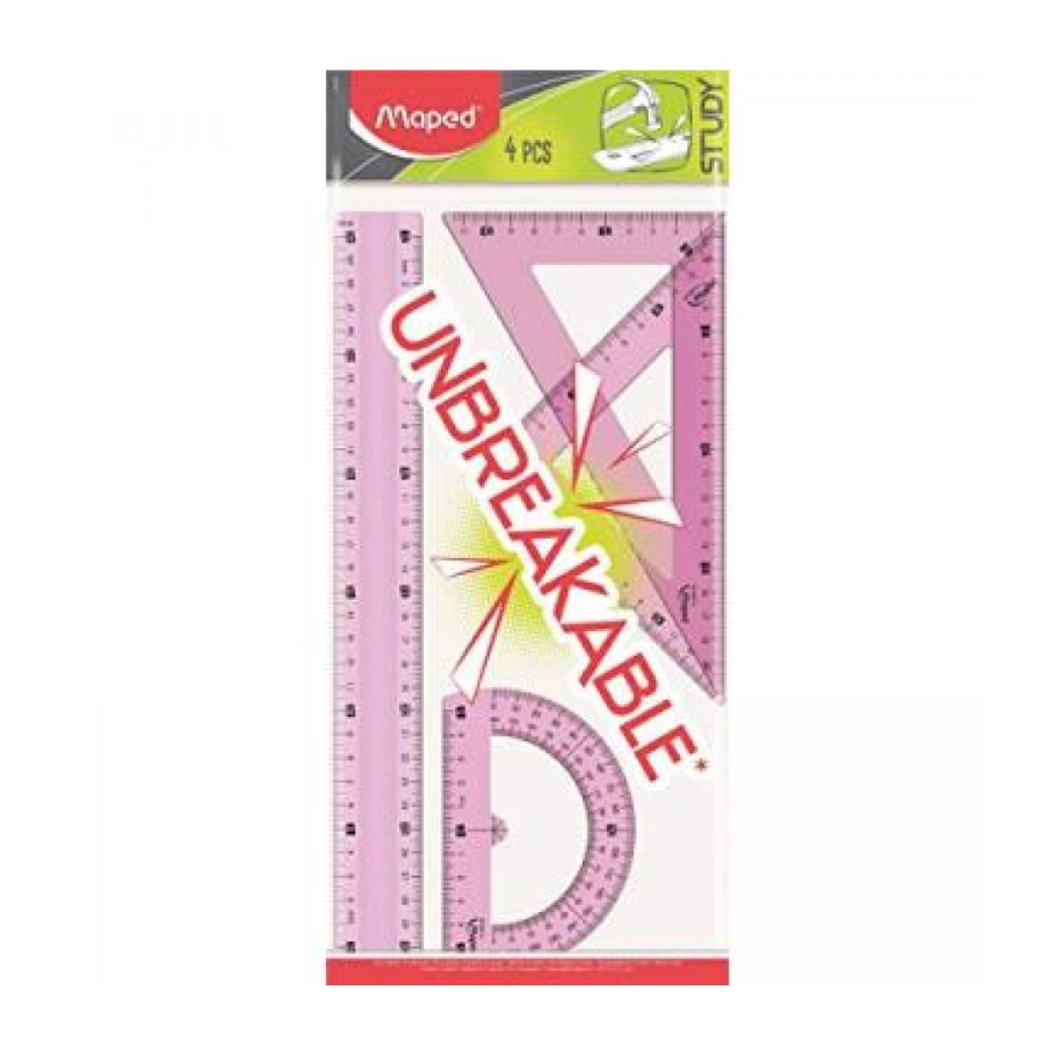 Kit Réguas Flexíveis 4 Peças Rosa - Maped