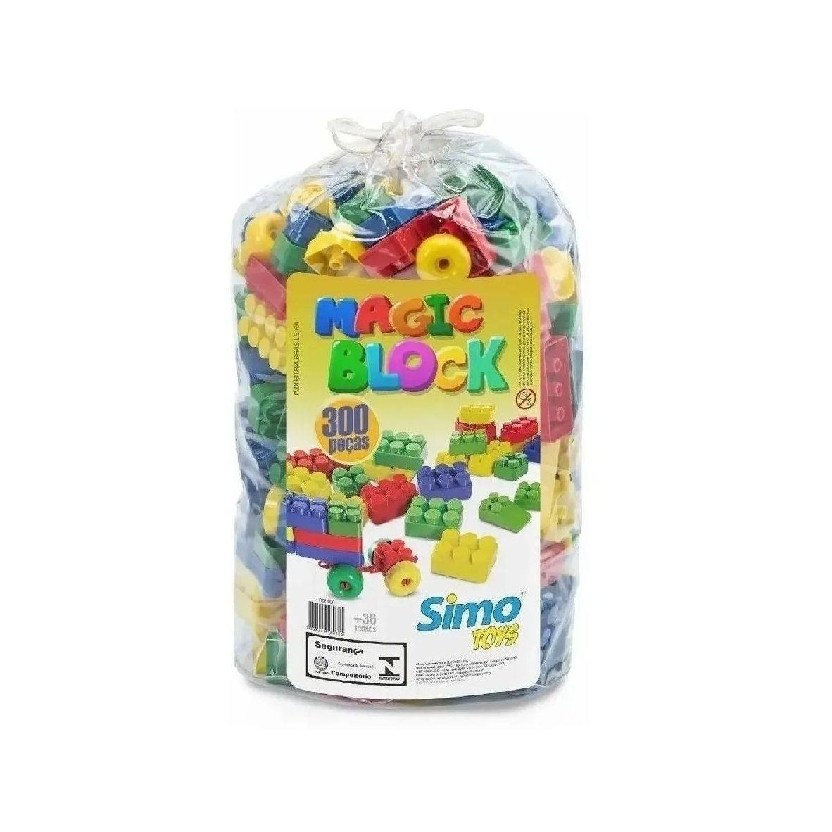 Blocos de Encaixe Magic Block - 300 peças - Simotoys