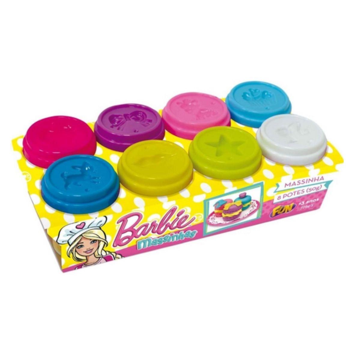 Massinha de Modelar Barbie - 8 potes - Fun