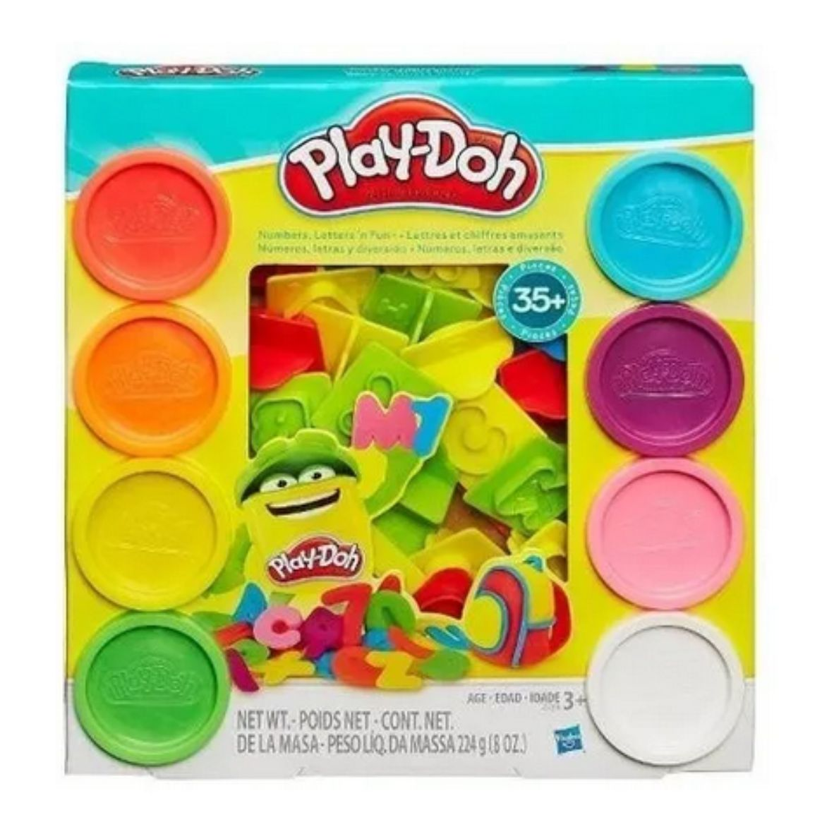 Conjunto Massinha de Modelar Play Doh - Conjunto de Letras e Números - Hasbro