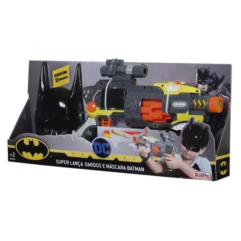 Super Lança Dardos e Máscara Batman acima de 3 anos - Brinquedos Rosita
