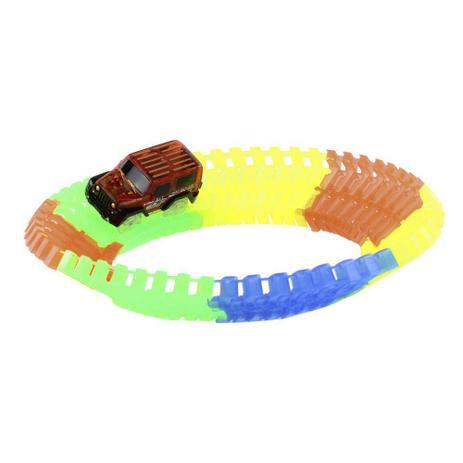 Super Pista de Carrinho Fluorescente 56 peças - BBR Toys