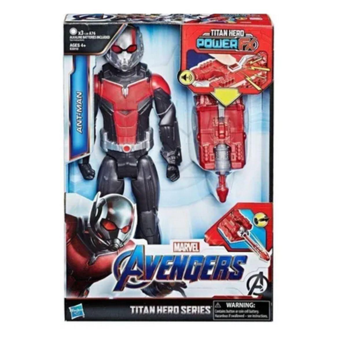 Boneco Eletrônico Articulado Titan Hero Homem-Formiga Avengers - Hasbro