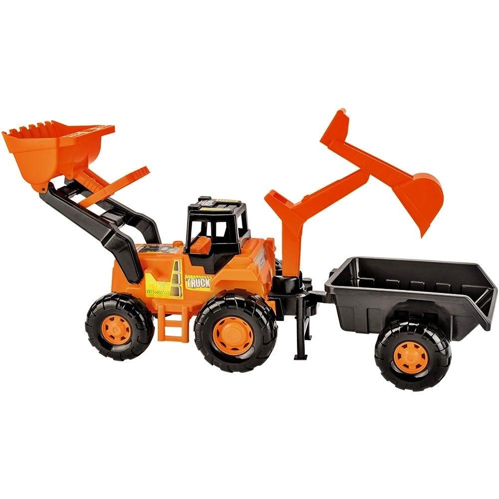 Trator Escavadeira Truck Laranja - Magic Toys