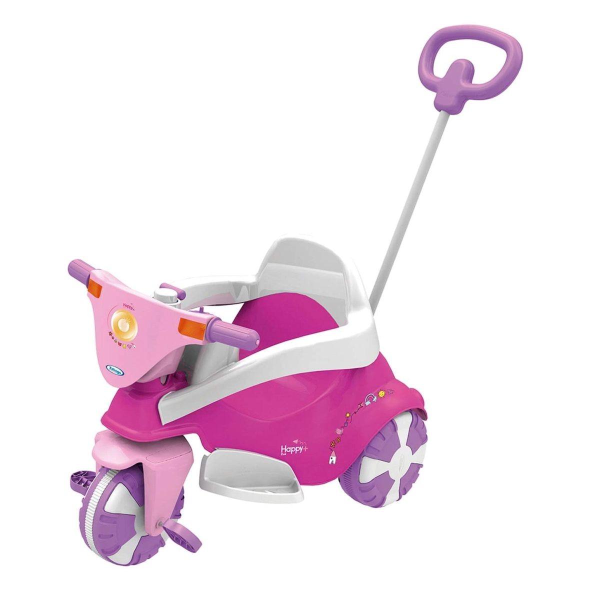 Triciclo Happy Pink 3 em 1 - Xalingo
