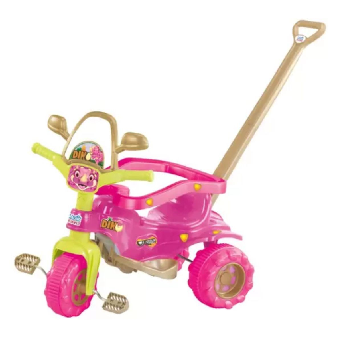 Triciclo Tico Tico Dino Pink - Magic Toys