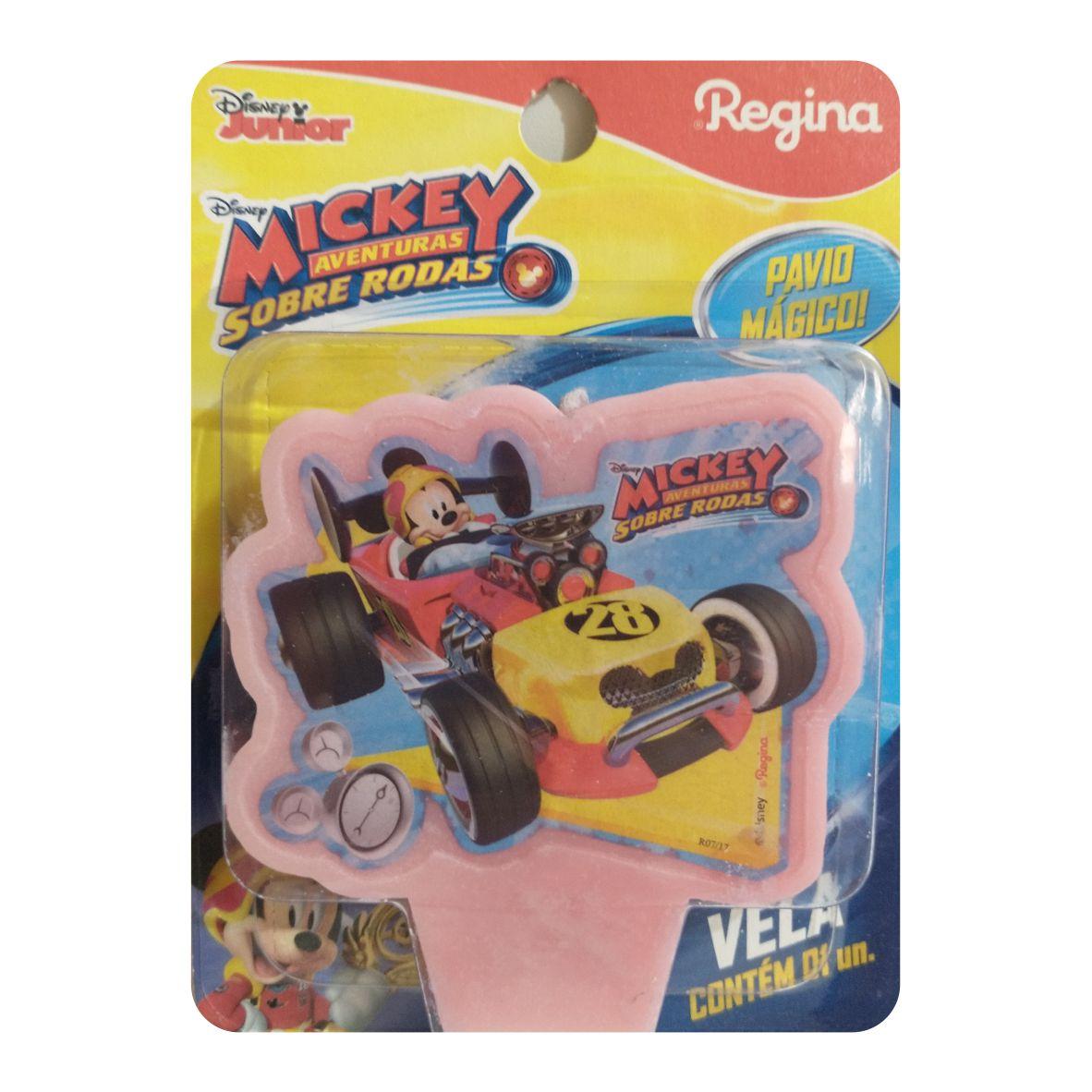 Vela Mickey Aventuras Sobre Rodas Pavio Mágico - Regina Festas