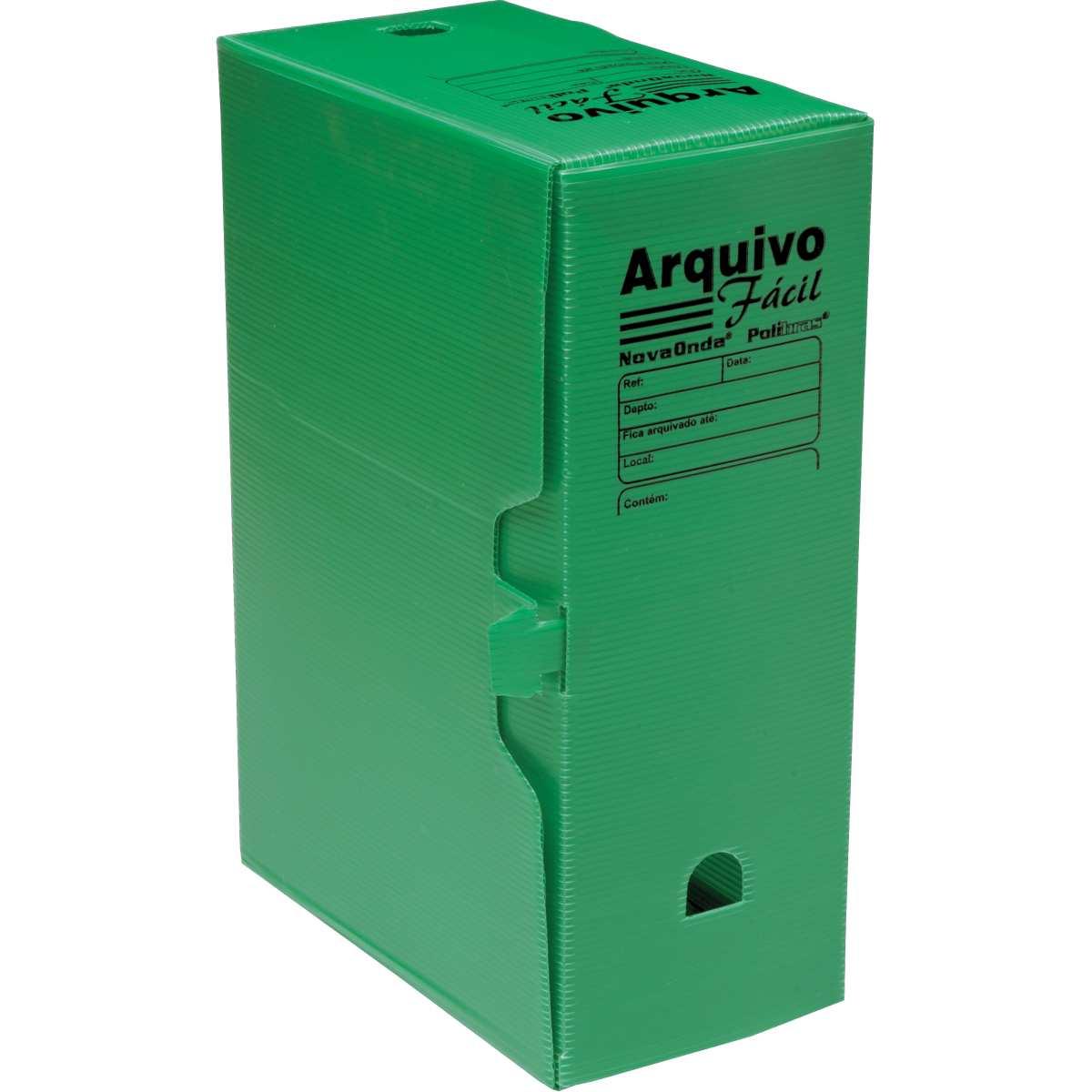 ARQUIVO MORTO PLASTICO VERDE 335 X 133 X 252 MM