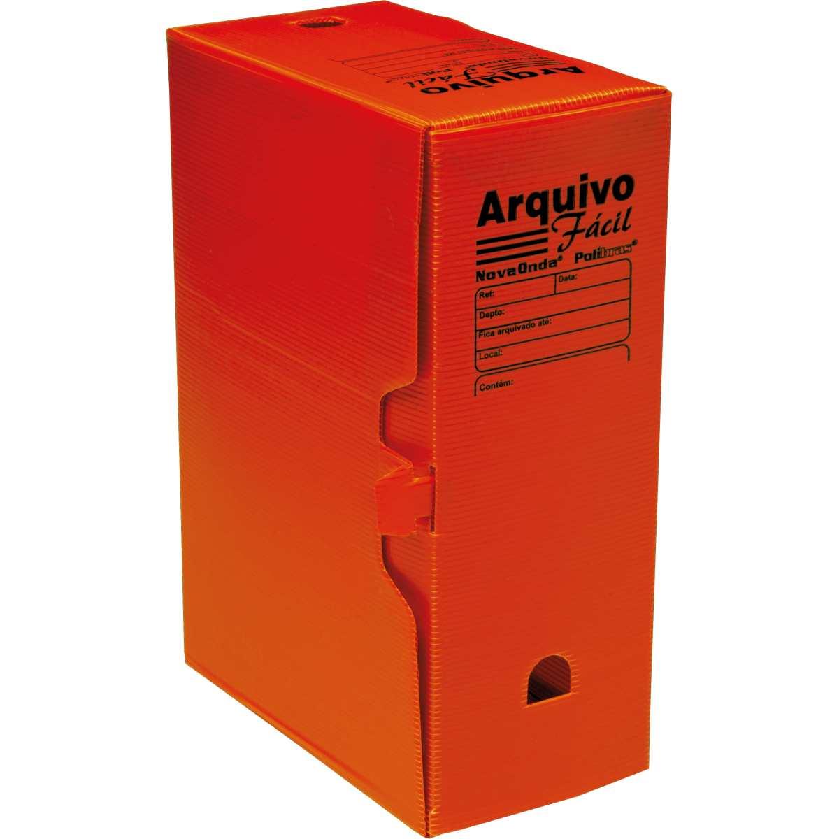 ARQUIVO MORTO PLASTICO VERMELHO 335 X 133 X 252 MM