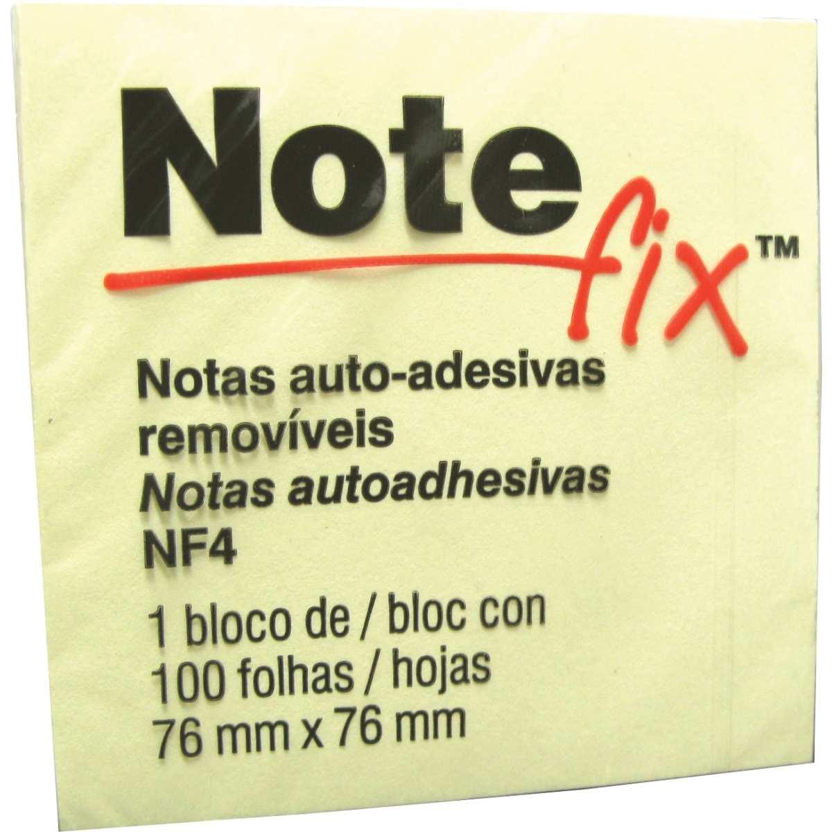 BLOCO RECADO ADESIVO NOTEFIX 653 76MM X 76MM AMARELO