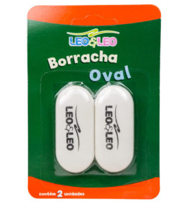 BORRACHA OVAL BRANCA