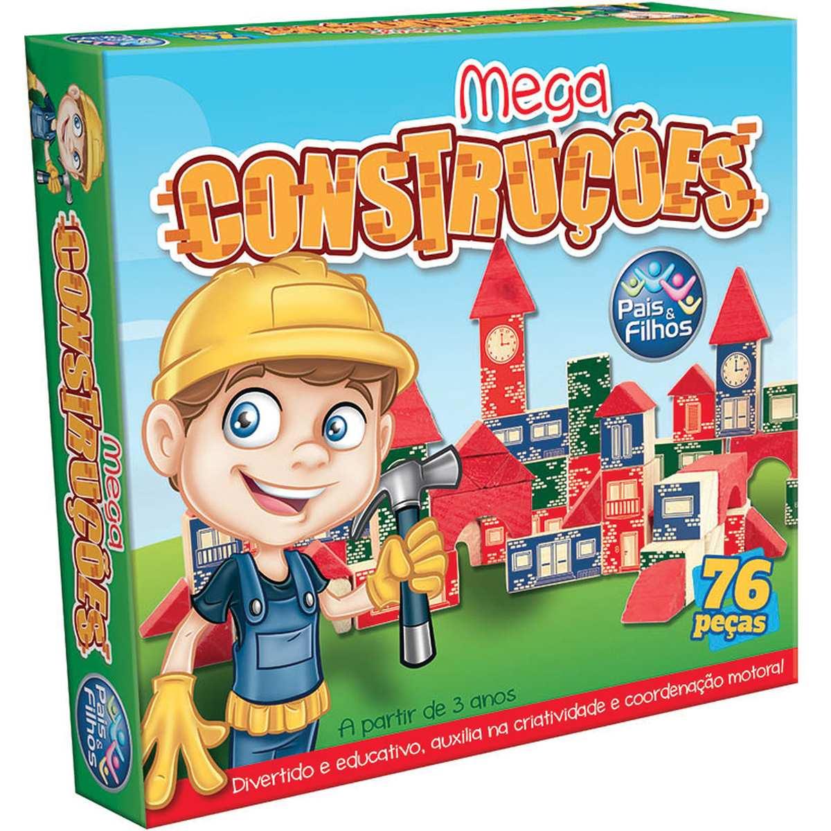 Brinquedo para Montar | Mega Construcoes 76 Pecas | Pais e Filhos