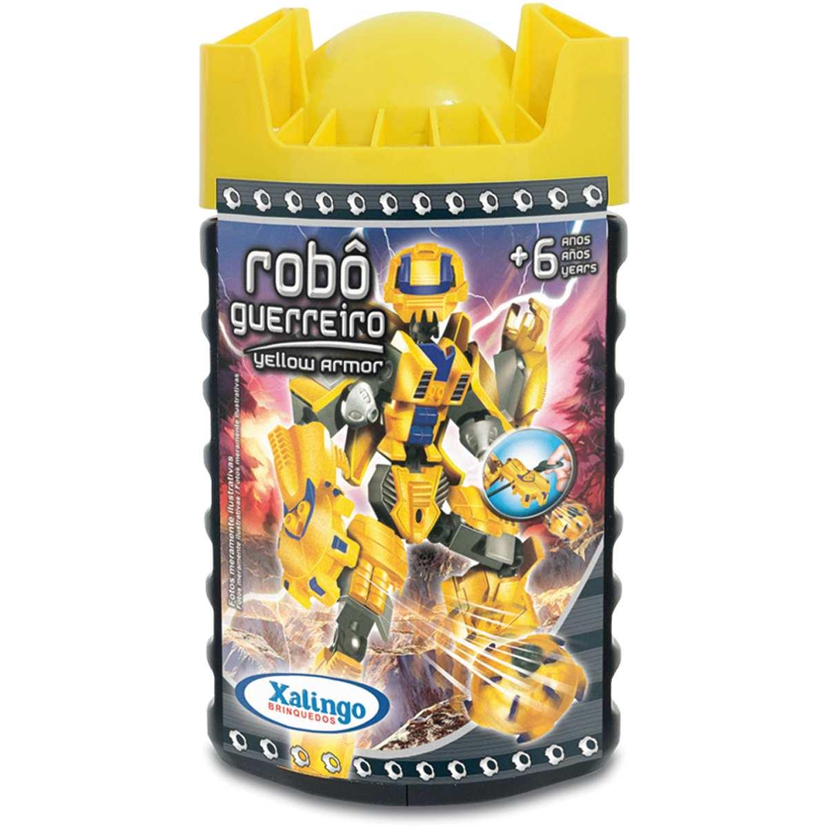 Brinquedo para Montar | Robo Guerreiro Yellow Armor 57 | Xalingo