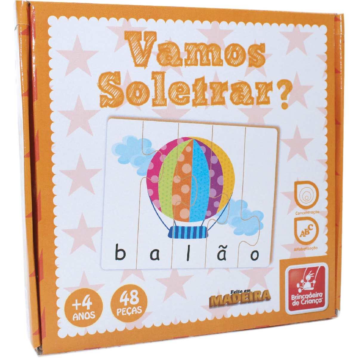 BRINQUEDO PEDAGOGICO MADEIRA VAMOS SOLETRAR?